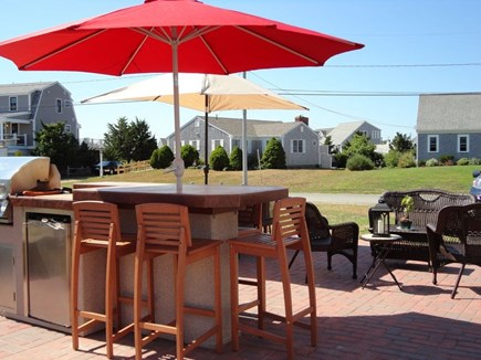 West Dennis Cape Cod vacation rental - Spacious patio bar with built in grill and plenty of seating
