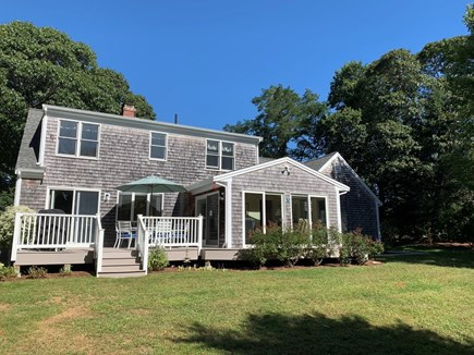 Orleans Cape Cod vacation rental - Large private back yard and deck.