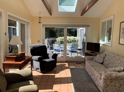 Orleans Cape Cod vacation rental - Sun room with recliners and double sofa bed.