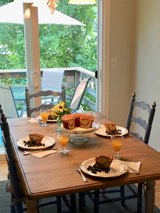 No. Falmouth Cape Cod vacation rental - Enjoy a meal together.