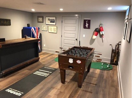 Orleans Cape Cod vacation rental - Lower Level game and bar area