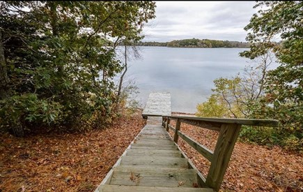 Marstons Mills Marstons Mills vacation rental - Access to lake right outside your back door.  Small beach.