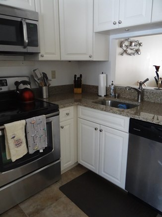 Brewster Cape Cod vacation rental - Kitchen renovation with new cabinets & countertops.