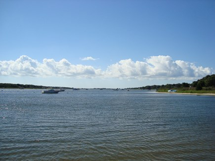 Falmouth Cape Cod vacation rental - Our view of Great Pond from the beach