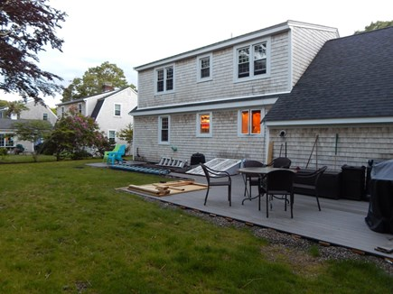 Falmouth Cape Cod vacation rental - Just another angle of the sleek deck.