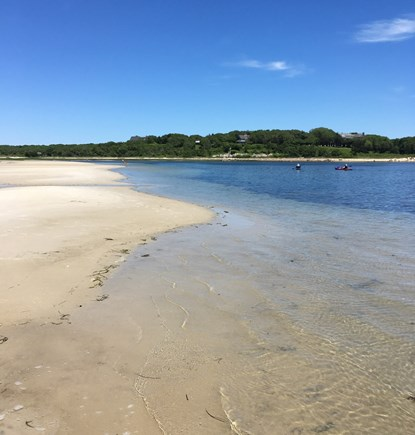 West Falmouth Cape Cod vacation rental - Private beach with sand bars