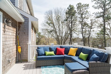 Chatham Cape Cod vacation rental - Great seating area on back deck