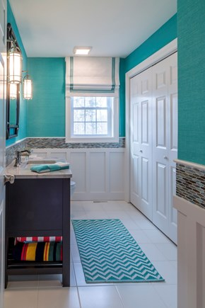 Chatham Cape Cod vacation rental - First Floor half bath and Laundry closet