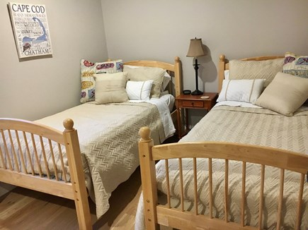 Wellfleet Cape Cod vacation rental - 2nd upstairs bedroom, two twin size beds. Linens included.