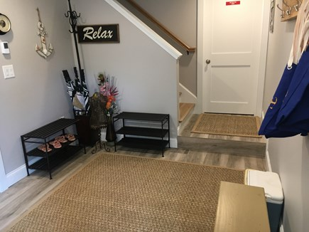 Wellfleet Cape Cod vacation rental - Bottom entrance with tile floor. Great storage for beach gear.