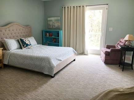 Wellfleet Cape Cod vacation rental - 2nd en suite with  slider to deck, walk-in closet and bathroom.