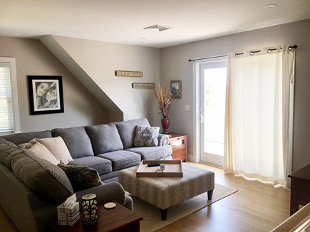 Wellfleet Cape Cod vacation rental - Upstairs family area overlooks ridge and marsh.