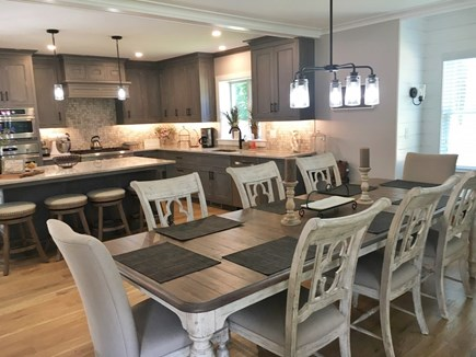 Wellfleet Cape Cod vacation rental - Large dining room table seats 8 comfortably. Open to kitchen.