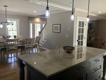 Wellfleet Cape Cod vacation rental - Large Italian marble-top island, fully equipped custom kitchen.
