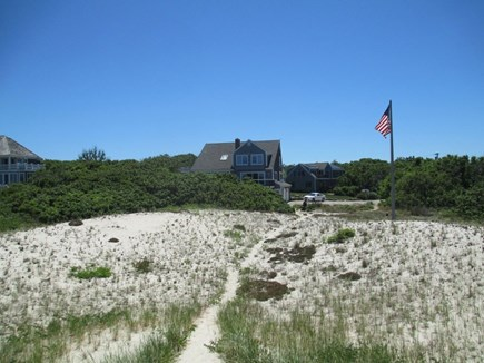 East Dennis Cape Cod vacation rental - The house from the dune
