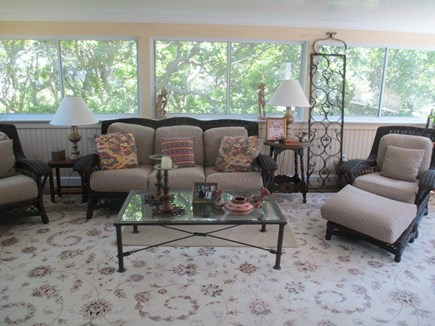 East Dennis Cape Cod vacation rental - Sun room off bedroom is nestled in the trees
