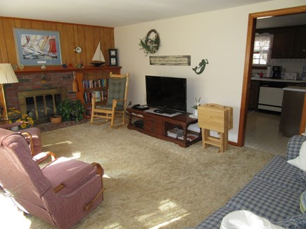 South Dennis Cape Cod vacation rental - Living room with television