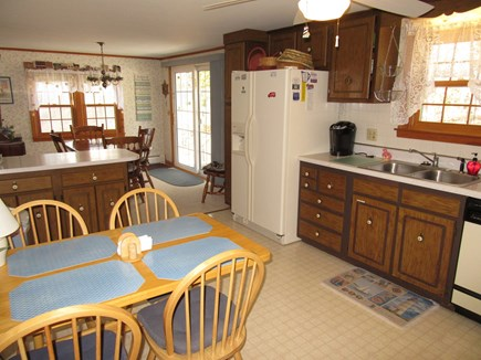 South Dennis Cape Cod vacation rental - Kitchen open to dining