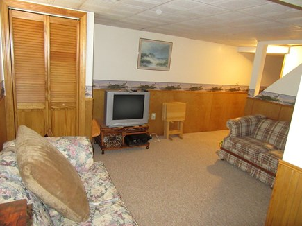 South Dennis Cape Cod vacation rental - Partially finished basement has den