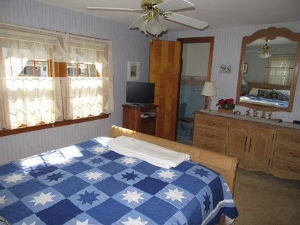South Dennis Cape Cod vacation rental - Alternate view of Master showing half bath