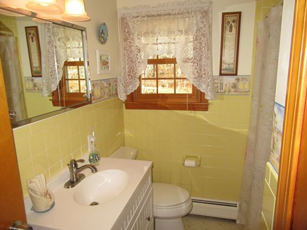 South Dennis Cape Cod vacation rental - Main bathroom with new vanity