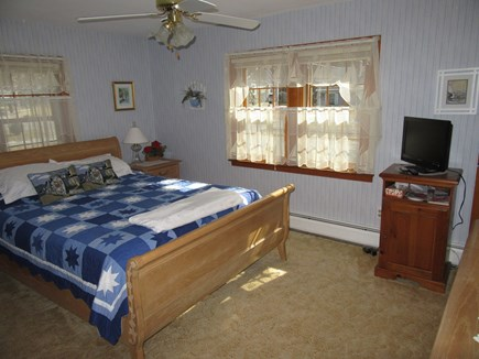 South Dennis Cape Cod vacation rental - Master bedroom with ceiling fan
