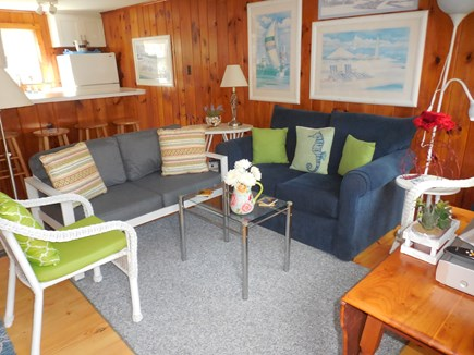 Dennis Cape Cod vacation rental - Sunny Bright Living Room with T.V. - D.V.R. & WiFi plus Land Line