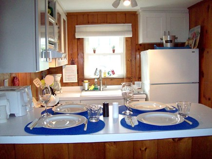 Dennis Cape Cod vacation rental - New Gourmet Kitchen with 4 burn gas stove & microwave