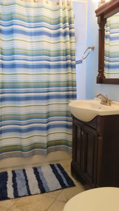 Provincetown Cape Cod vacation rental - Newly renovated bathroom, with tub and shower.