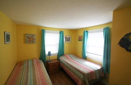 West Dennis / Dennisport Cape Cod vacation rental - Second Bedroom with closet and two twin size beds unit 113