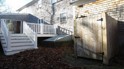 South Yarmouth Cape Cod vacation rental - Back deck and private outdoor shower
