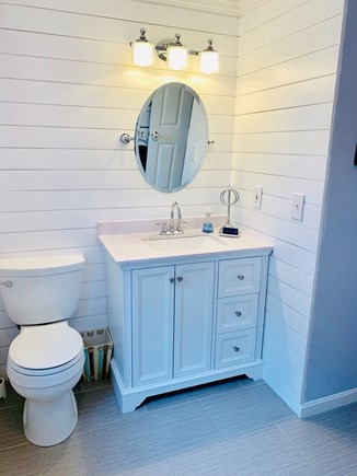 South Yarmouth Cape Cod vacation rental - First floor full bath with washer and dryer