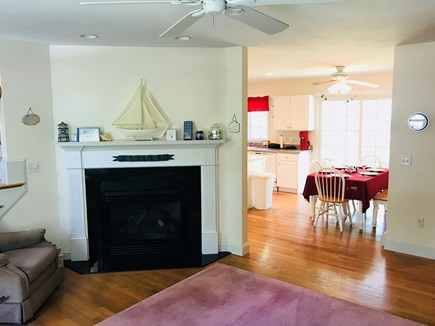 South Yarmouth Cape Cod vacation rental - Gas fireplace in the living room