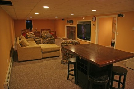 Harwichport Cape Cod vacation rental - Basement living area