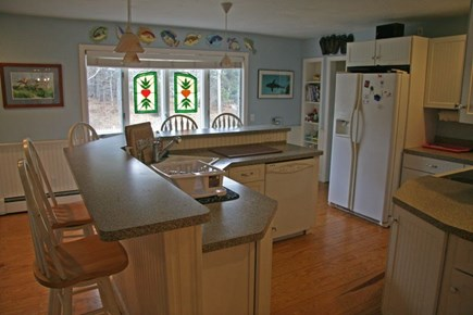 Harwichport Cape Cod vacation rental - Large center island in kitchen great for gathering.