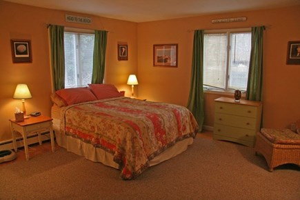 Harwichport Cape Cod vacation rental - Queen 1st floor Master with TV and separate sitting area.