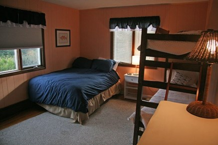 Harwichport Cape Cod vacation rental - 1st floor bedroom with double and bunk bed.