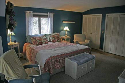 Harwichport Cape Cod vacation rental - 2nd floor King Master with TV and sitting area.