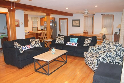Eastham Cape Cod vacation rental - Living room, dining room, kitchen combo