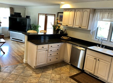 Dennis Cape Cod vacation rental - The fully applianced kitchen also has Keurig coffee maker.