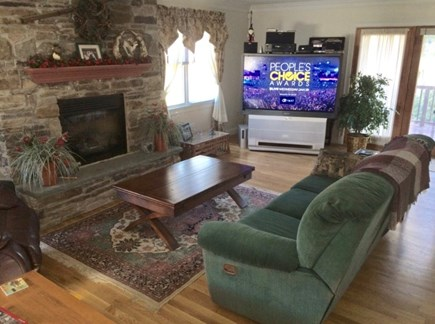Dennis Cape Cod vacation rental - The coffee table also opens up to a larger serving table.