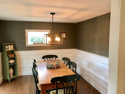 Falmouth Cape Cod vacation rental - Dining Room with sliding doors to deck
