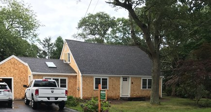 Falmouth Cape Cod vacation rental - Front of the House (landscaping to be completed spring 2018)