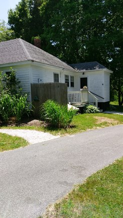 Brewster Cape Cod vacation rental - Rear view with outdoor shower.