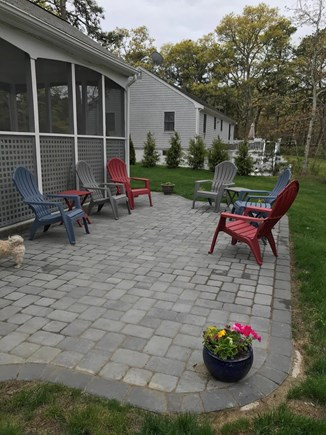 South Dennis Cape Cod vacation rental - Outdoor patio with new Webber gas grill for outdoor enjoyment