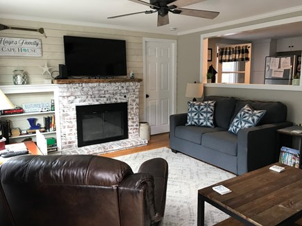 South Dennis Cape Cod vacation rental - Sunny and bright. White washed fireplace and ship lap!
