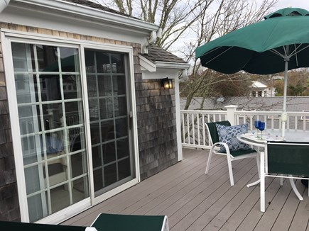 Chatham Cape Cod vacation rental - Rooftop deck off Master bedroom facing Gould Park