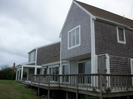 Dennis Cape Cod vacation rental - Terrific deck overlooking nothing but the sea!