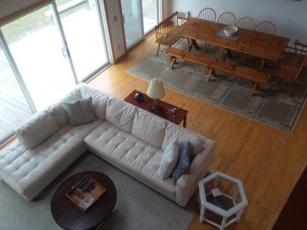 Dennis Cape Cod vacation rental - Living open to fantastic big dining table