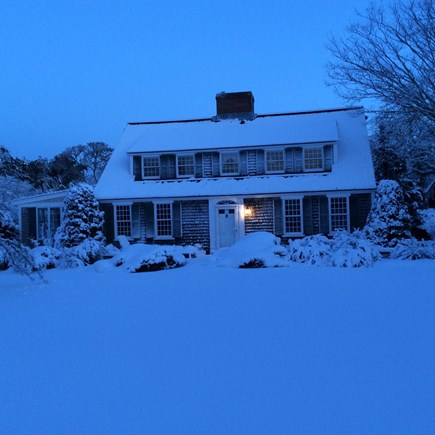 Harwichport, just across from  Cape Cod vacation rental - Beautiful Winter Scene when one looks from the front of the house